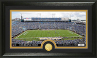 Jacksonville Jaguars Stadium Bronze Coin Panoramic Photo Mint