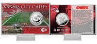 Kansas City Chiefs Silver Coin Card