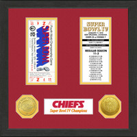 Kansas City Chiefs  SB Championship Ticket Collection