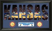 University of Kansas Basketball Word Art Bronze Coin Panoramic Photo Mint