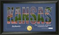 University of Kansas Silhouette Bronze Coin Panoramic Photo Mint