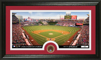 Los Angeles Angels Infield Dirt Coin Panoramic Photo Mint
