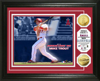 Mike Trout 2014 AL MVP Gold Coin Photo Mint