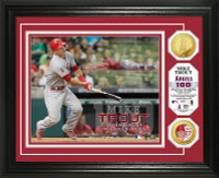 Mike Trout 100/100 Record Gold Coin Photo Mint