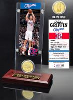 Blake Griffin Ticket & Bronze Coin Acrylic Desk Top