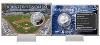Dodger Stadium Silver Coin Card