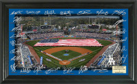 Los Angeles Dodgers 2017 Signature Field Framed LE 2017