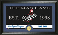 Los Angeles Dodgers The Man Cave Bronze Coin Panoramic Photo Mint