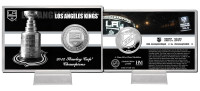 Los Angeles Kings Stanley Cup History Silver Coin Card