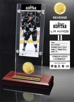 Anze Kopitar Ticket & Bronze Coin Acrylic Desk Top