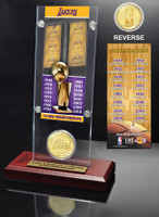 Los Angeles Lakers 16-time NBA Champions Ticket & Bronze Coin Acrylic Desk Top