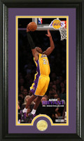 Kobe Bryant Los Angeles Lakers Bronze Coin Panoramic Photo Mint