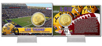 Louisiana State University  3-Time National Champions Bronze Coin Card