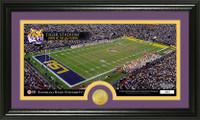 Louisiana State University Stadium Bronze Coin Panoramic Photo Mint