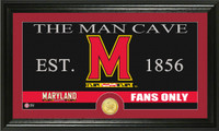 University of Maryland Man Cave Bronze Coin Panoramic Photo Mint
