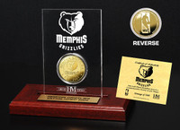 Memphis Grizzlies 24KT Gold Coin Etched Acrylic