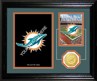 Miami Dolphins Framed Memories Desktop Photo Mint