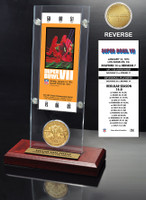 Super Bowl 7 Ticket & Game Coin Collection