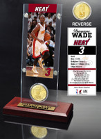 Dwayne Wade Ticket & Bronze Coin Acrylic Desk Top