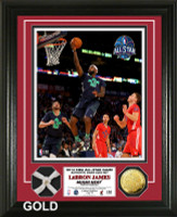 Lebron James 2014 All Star Game Game Used Net Gold Coin Photo Mint