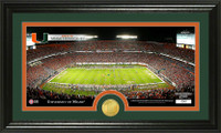 University of Miami Stadium Bronze Coin Panoramic Photo Mint