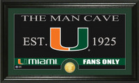 University of Miami Man Cave Bronze Coin Panoramic Photo Mint