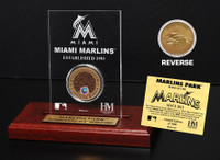 Marlins Park Infield Dirt Coin Etched Acrylic