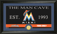 Miami Marlins The Man Cave Bronze Coin Panoramic Photo Mint