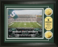 Michigan State University Stadium Gold Coin Photo Mint