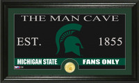 Michigan State University Man Cave Bronze Coin Panoramic Photo Mint