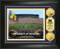 University of Michigan Stadium Gold Coin Photo Mint