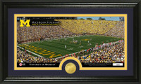 University Of Michigan Stadium Bronze Coin Panoramic Photo Mint