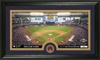 Milwaukee Brewers Infield Dirt Coin Panoramic Photo Mint