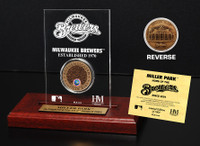 Miller Park Infield Dirt Coin Etched Acrylic