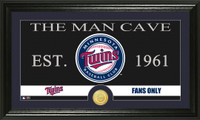 Minnesota Twins The Man Cave Bronze Coin Panoramic Photo Mint