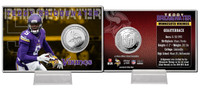 Teddy Bridgewater Silver Coin Card