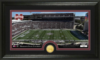 Mississippi State University Stadium Bronze Coin Panoramic Photo Mint