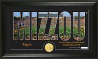 University of Missouri Silhouette Bronze Coin Panoramic Photo Mint