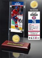 P.K.Subban Ticket and Bronze Coin Desktop Acrylic