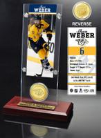 Shea Weber Ticket and Bronze Coin Desktop Acrylic
