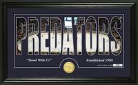 Nashville Predators Silhouette Bronze Coin Panoramic Photo Mint