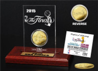 2015 NBA Finals Etched Display Dueling Gold Mint Coin (Warriors vs Cavaliers)