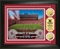 University of Nebraska Stadium Gold Coin Photo Mint