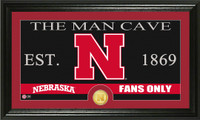 University of Nebraska Man Cave Bronze Coin Panoramic Photo Mint