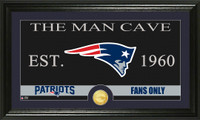 New England Patriots The Man Cave Bronze Coin Panoramic Photo Mint