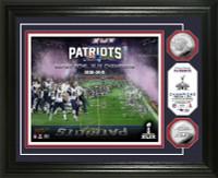 New England Patriots Super BowlxLIX Champions Silver Coin Photo Mint