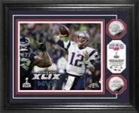 New England Patriots Super BowlxLIX MVP Silver Coin Photo Mint