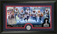 New England Patriots Super BowlxLIX Champions Minted Coin Panoramic Photo Mint