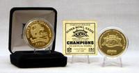 SuperbowlxXXIX Champion 24 Kt Gold Overlay Coin