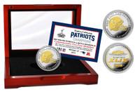 New England Patriots Super BowlxLIX Champions Two-Tone Mint Coin